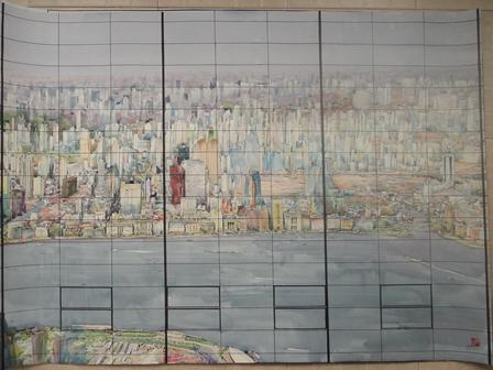 玻璃幕墙观景图