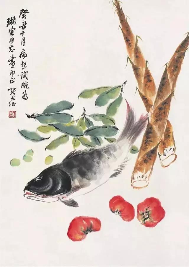 张大壮虫鱼题材国画
