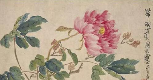 他的花鸟画构图法,启迪任伯年、潘天寿,并承袭至今